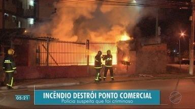 Incêndio pode ter sido criminoso - Incêndio pode ter sido criminoso