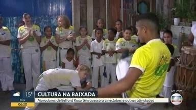 Espaço oferece opções culturais a moradores de Belford Roxo - Espaço oferece opções culturais a moradores de Belford Roxo, na Baixada Fluminense.