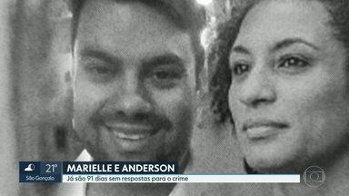91 dias sem Marielle e Andreson - Ao completar 3 meses do crime, a família, os amigos e a sociedade cobram respostas para o crime. Familiares de Marielle se reuniram no Ministério Público do Rio.