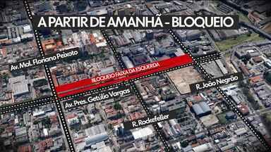 Obras na Av. Getúlio Vargas bloqueiam trânsito a partir desta quarta-feira (13) - As obras devem durar um ano e os bloqueios vão ser graduais.