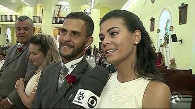 Casamento coletivo é realizado em Garanhuns - Celebração foi realizada no dia de Santo Antônio.