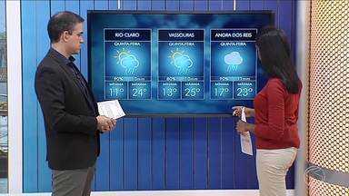 Frente fria aumenta chance de chuva no Sul do Rio de Janeiro - Em algumas áreas da região, há chance de chuva isolada.