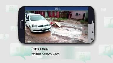 Tô na Rede: Condições da rua Redenção no bairro Jardim Marco Zero, no AP - No último dia 09 do mês de Maio a rua estava intrafegável, moradores da via tiveram a reivindicação atendida