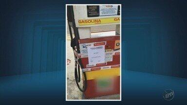 Bombas de posto de combustíveis são lacradas por excesso de álcool na gasolina em Varginha - Bombas de posto de combustíveis são lacradas por excesso de álcool na gasolina em Varginha