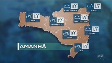 Veja como ficará o tempo em todas as regiões de SC nesta sexta-feira (15) - Veja como ficará o tempo em todas as regiões de SC nesta sexta-feira (15)