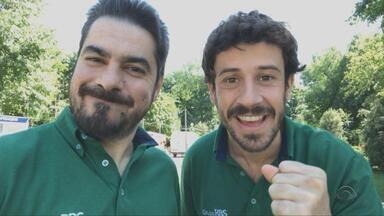 Potter e Duda Garbi comentam jogo de abertura da Copa no 'Tudo é Gre-Nal na Rússia' - Assista ao vídeo.
