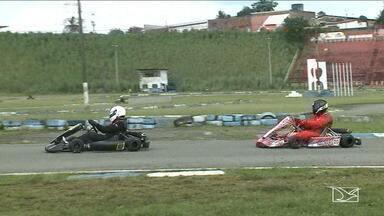 Pilotos de kartódromo disputam na quarta etapa do campeonato maranhense - Os pilotos também estavam interessados em outra conquista: uma vaga no campeonato brasileiro.
