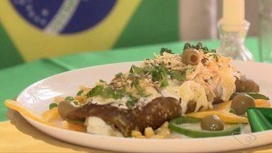 Rapando a panela: culinarista do ES ensina receita de crepe verde amarelo - É o crepe do hexa!