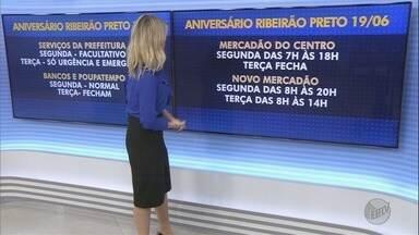 Veja o horário de funcionamento do comércio no feriado de terça-feira (13) em Ribeirão - No aniversário da cidade lojas do Centro terão abertura facultativa.