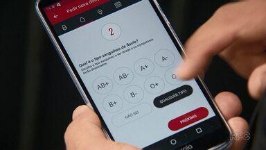 Aplicativo ajuda a conectar hemocentros e doadores de sangue no estado - O aplicativo está disponível no sistema Android e é de graça.