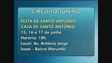 Confira a programação do Circuito Junino de 15 a 17 de junho em Uberlândia - Bingos, shows e comida típica fazem parte das atrações.