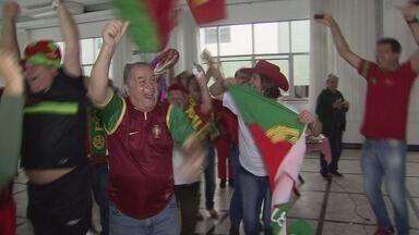Torcidas de Portugal e Espanha em Santos vibram por suas seleções na Copa - Centro Português e Centro Espanhol ficam um ao lado do outro na Avenida Ana Costa.