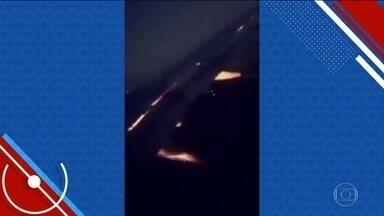 Asa de avião que levava jogadores da Arábia Saudita pega fogo na Rússia - Os jogadores da Arábia Saudita passaram por um susto na segunda-feira (18). Um acidente provocou um incêndio na asa do avião que transportava a equipe de São Petersburgo a Rostov.