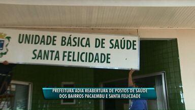 Prefeitura adia volta de atendimento em unidades de saúde de Cascavel - Na unidade do Santa Felicidade o trabalho de reforma não agradou.