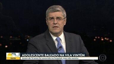 Jovem de 14 anos morto na Vila Vintém - Guilherme Henrique Pereira chegou a ser socorrido, mas não resistiu.
