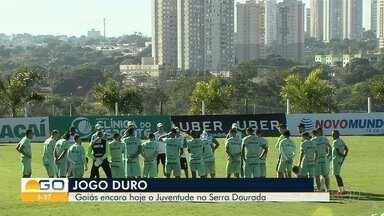 Goiás se prepara para enfrentar o Juventude - Jogo será nesta quinta-feira (21), no Estádio Serra Dourada.