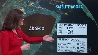 Estação mais seca do ano começa com nível preocupante nos principais reservatórios do país - Primeira tarde do inverno vai ser quente em praticamente todo Brasil.