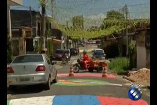 Paraenses se aquecem para a partida da seleção brasileira na sexta-feira (22) - Ruas estão enfeitadas e pintadas para o festejo