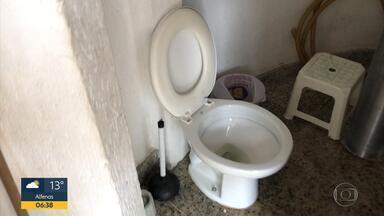Banheiros públicos na orla da Lagoa da Pampulha apresentam problemas de conservação - Alguns estão trancados e inacessíveis.