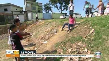 O RJ Móvel esteve em Vilar dos Teles, nessa quinta-feira - Os moradores querem a revitalização da praça Jordelina Miranda Cachoeira. A prefeitura tinha prometido que as obras começariam esse mês. Mas até agora nada foi feito.