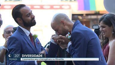 Mineirão comemora o 'Dia Internacional do Orgulho LGBT' com casamentos - Dois casais homoafetivos e um transafetivo se uniram em cerimônias nesta quinta-feira.
