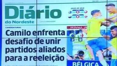 Confira a capa do 'Diário do Nordeste' desta terça-feira (3) - Saiba mais em g1.com.br/ce