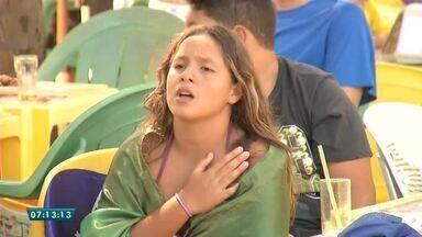 Na Praia do Futuro, a torcida foi a loucura com a vitória do Brasil - Saiba mais em g1.com.br/ce
