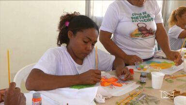Famílias de baixa renda são beneficiadas com cursos profissionalizantes em Balsas - Um programa do Governo Federal disponibiliza cursos de habilidade para pinturas e artesanatos para família de baixa renda.