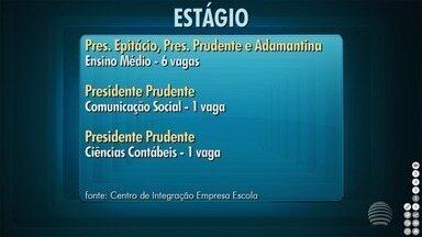 Confira as oportunidades de estágio na região de Presidente Prudente - Vagas são disponibilizadas pelo Ciee.
