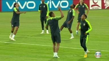 Seleção Brasileira faz último treino para enfrentar a Bélgica pelas quartas de final - Seleção Brasileira faz último treino para enfrentar a Bélgica pelas quartas de final