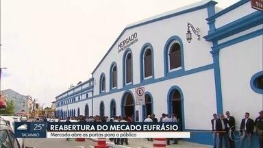 Mercado Eufrásio Barbosa reabre as portas - Espaço funciona no bairro do Varadouro, em Olinda