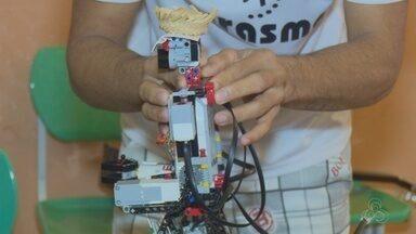 Jovens de centro de custódia montam robôs que dançam música junina, no AP - Protótipos foram feitos pelas mãos de doze jovens que cumprem medida socioeducativa no Cesein