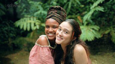 Juliana Paiva e Aline Dias comentam amizade das personagens da novela 'O Tempo Não Para' - Confira!