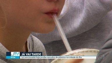 Canudos de plástico estão proibidos no Rio - Lei sancionada hoje ainda não tem data para entrar em vigor.
