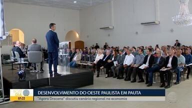 Autoridades debatem desenvolvimento regional no Agora Dracena - Evento tem iniciativa da TV Fronteira e foi realizado nesta quinta-feira (5).