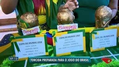 Torcida do ES está preparada e confiante para vitória do Brasil contra a Bélgica - Times disputam vaga na semifinal, nesta sexta-feira (6).