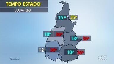 Confira como fica a previsão do tempo nas regiões do Tocantins nesta sexta-feira (6) - Confira como fica a previsão do tempo nas regiões do Tocantins nesta sexta-feira (6)