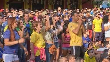 Torcedores na região acompanham despedida da Seleção Brasileira na Copa do Mundo - O Brasil caiu diante da Bélgica. No último confronto entre as duas seleções,em 2002, nós vencemos e conquistamos o penta. E os torcedores acompanharam o jogo na região.