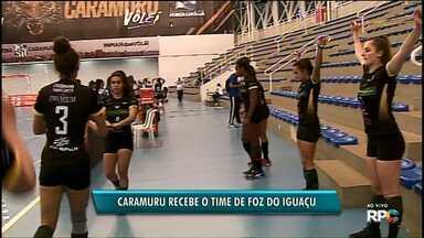 O Caramuru Vôlei recebe nesta sexta (06) o time do Foz do Iguaçu na Arena - O jogo do time feminino de vôlei é pela série B do Campeonato Paranaense.