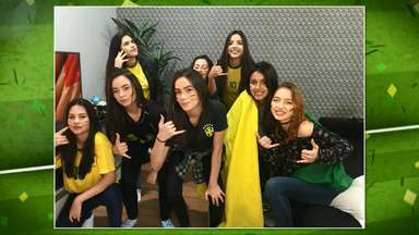 Veja as fotos que os torcedores brasileiros mandaram para o PRTV 2 - As fotos foram enviadas pelo aplicativo VC na RPC.