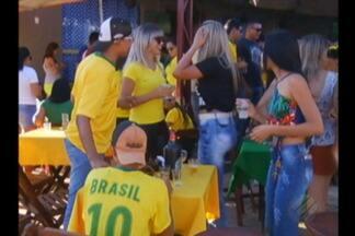 No interior do estado, torcida acreditou até o final que Brasil podia ganhar - Torcedores ficaram arrasados.