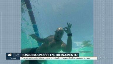 Encontrado o corpo do tenente do Cospo de Bombeiros, Nazir Júnior - Nazir participava de um treinamento do curso de guarda vidas. Na sexta-feira ele mergulhoi no mar, na praia da Barra da Tijuca e desapareceu. O corpo foi encontrado nesse domingo.