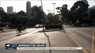 Com 83 anos, a Avenida 9 de Julho conta muito da história de São Paulo - A avenida é uma homenagem à Revolução e mostra os contrastes de São Paulo. E ganhou até homenageada por um bloco de carnaval.