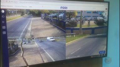 Equipamento de policiamento digital é testado em avenida de Poços de Caldas (MG) - Equipamento de policiamento digital é testado em avenida de Poços de Caldas (MG)