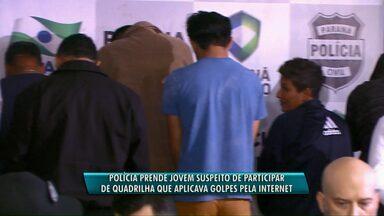 Polícia prende jovem suspeito de participar de quadrilha que aplicava golpes pela internet - Ele foi preso em um posto de combustíveis, no bairro São Cristóvão.