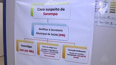 Iniciou hoje a campanha contra a vacinação do Sarampo em Porto Velho - A campanha foi antecipada por conta da confirmação dos casos no Estado.