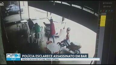 Suspeito de mandar matar empresário em Ceilândia é preso preventivamente - Crime foi em abril em uma distribuidora de bebidas. Segundo a polícia, mandante do crime devia R$375 mil pra vítima.