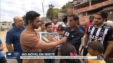 Prefeitura de Ibirité promete novo projeto de rotatória para bairro Cascata - O MG Móvel está na cidade pela terceira vez. Na primeira volta da equipe, no mês passado, a prefeitura tinha feito parte da obra e o projeto pedido pelos moradores.