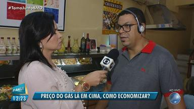 Restaurantes procuram alternativas para economizar gás de cozinha em Salvador - Após o aumento no preço do botijão e da dificuldade de encontrar gás eles procuram estratégias para economizar o produto.