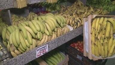 Produtores de banana do Vale do Ribeira questionam alto valor da fruta nos mercados - Diferença pode prejudicar comercialização do produto.